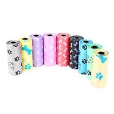 60 (4 rolls) Large strong dog poo bags, eco friendly, paw print design 2020