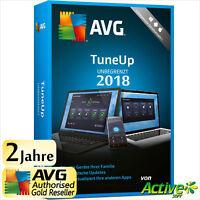 AVG TuneUp 2018 - UNBEGRENZT | Alle PC/Geräte | TuneUp Utilities 2 Jahre DE 2019
