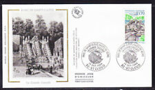 France 1994  - 3f70 Great Cascades Silk First Day Cover Unaddressed