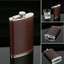 5-10oz Stainless Steel Hip Liquor Whiskey Alcohol Flask Cap Pocket Wine Bottle