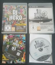 DJ HERO 1 & 2 PS3 PLAYSTATION 3 COMPLETE GOOD CONDITION