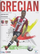 EXETER CITY v STEVENAGE 2017/18 MINT PROGRAMME + FREE TEAMSHEET