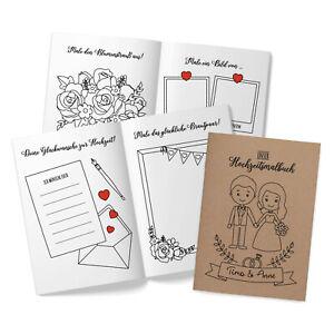 5er Set Hochzeitsmalbuch Gastgeschenk Kinder Malbuch Hochzeit Kraftpapier