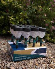 Garden Outdoor Solar Power Stake Lights Path Waterproof LED 12 Pack, Black