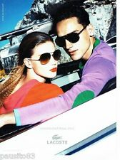 PUBLICITE ADVERTISING 116  2011  Lacoste  collection lunettes solaires