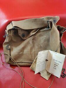 1918 Vintage Military Gas Mask Bag