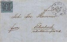 Thurn und Taxis, Brief aus Hanau nach Erlenbach b. Marktheidenfeld, Michel Nr.11