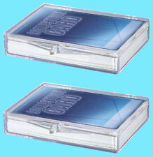 2 Ultra Pro 15 COUNT HINGED BOX STORAGE Trading Card Baseball protection
