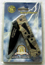 Smith & wesson Cuttin Horse Camo vert ceinture Clip s & w couteau de poche pocket Knife