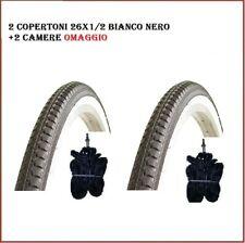 Pneus 26x1/2 Vélo Blanc Noir Vélo R Vintage KENDA 40-584 Rétro '2 PC