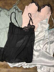 victoria's secret lot of lingerie teddies xs-s-m lot of 4