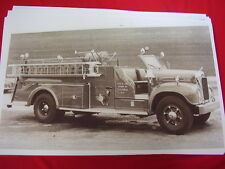 1950 ? MACK FIRETRUCK COLONIE NEW YORK    11 X 17  PHOTO   PICTURE