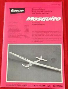 Graupner Mosquito Vintage Einbauanleitung RC Modellbau Zubehör