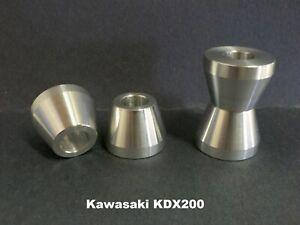 KDX200 - Solid Handlebar Mount - Billet Aluminum - KDX 200 Kawasaki - Bar Cones