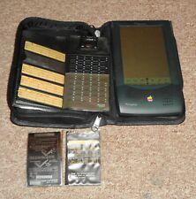 Apple Newton Cojín de mensaje en Estuche De Cuero Con Accesorios taky a look!!!