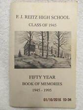 Reitz High School Class of 1945 50-Year Reunion Book Evansville IN Class Updates
