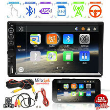 7 Inch Car Stereo Radio MP5 HD Bluetooth Mirror Link Touch Screen Player Camera