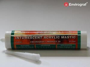 Intumescent Acrylic Acoustic Mastic Envirograf Fireproof