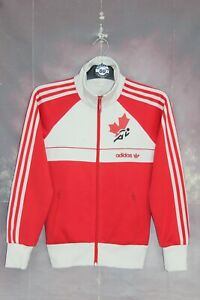 ADIDAS ORIGINALS CANADA OLYMPIC GAMES 1984 TRACKSUIT TOP,JACKET,SIZE:SMALL,UK 8