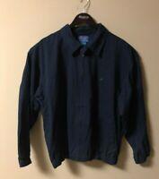 PENDLETON Men's Size M NAVY BLUE Full-Zip plaid lining JACKET Cotton USA K20