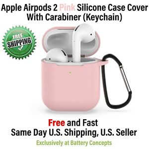 Apple AirPods 2 Wireless Charging Protective Silicone Cover- PINK- WHOLESALE LOT