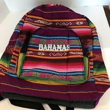 Bahama Mexico Souvenir Backpack Bold Bright  Bright Colors Embroidered Serape