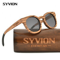 dd086ffc395df 100% Handmade Natural Bamboo Sunglasses Polarised Zebra Wood Sunglasses  Vintage