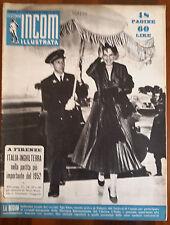 INCOM ILLUSTRATA N.19 ANNO 1952 A FIRENZE ITALIA INGHILTERRA