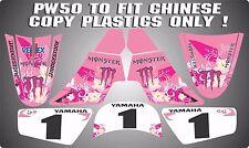 pw50 Non Genuine plastics chinese copy decals graphics yamaha pw 50  PINK