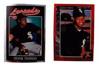 (2) 1991 & 1992 Legends Frank Thomas Baseball Card Lot Chicago White Sox