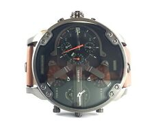NEW DIESEL XXXL 57 MM MEN'S WRIST WATCH CHRONOGRAPH BLACK BROWN MR. DADDY DZ7332