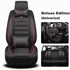 Breathable Surround 5D 5 Seat Luxury Car Seat Cover Protector Leather w/ Pillows