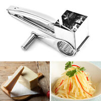 AU_ FP- Manual Rotary Drum Stainless Steel Cheese Grater Parmesan Slicer Kitchen