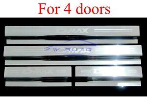Scuff Plate Step Door Sill Chrome For Isuzu D-max Dmax Pickup 4 Doors 2020-2021