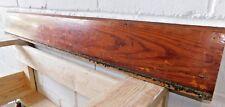 1910 Wooden Antique BASE TRIM Molding MILLWORK Fir Bevel Top Craftsman ORNATE