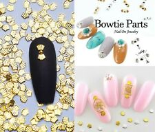 20 pcs Nail supply Metallic Sea shell studs /Petal inspired DIY gold design nail