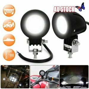 2x 10W Motorcycle Motorbike LED Spot Lights Fog Driving Light Running Light New