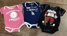 Mlb Angels/dodgers Baby one pieces 0/3months