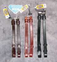 "STUBBEN Leather SILVER BILLET Hook/Stud Bridle Cheekpieces Cheek Piece 5/8"" 16mm"