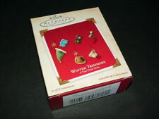 2003 Winter Trimmers A Visit From Santa - Hallmark miniature ornament set
