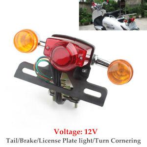 Motorcycle Brake Stop Rear Tail Lamp Assembly Turn Cornering Running Light 12V