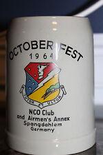 Original German Made U.S. Air Force NCO Club & Airmen's Annex Beer Mug, 1964 d.