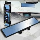 Broadway 300mm Wide Flat Interior Clip On Rear View Blue Tint Mirror Universal