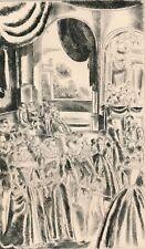 gravure originale Hermine David princesse Clèves 1943 edition anglaise beauté