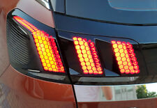 Rear Tail Lamp Light Honeycomb Sticker Cover 1set For Peugeot 3008 GT 2016-2018