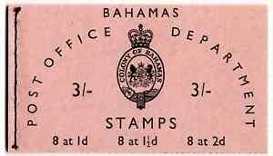Bahamas 1961 QE2 3/- Booklet SG SB2 Cat £28