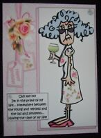 HANDMADE 3-D  STELLA  BIRTHDAY GREETING CARD  WITH A SENTIMENT  YOUNG & RESTLESS