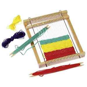 TRADITIONAL WOODEN TOY WEAVING LOOM
