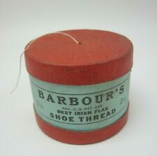 Vintage Barbour's Best Irish Flax Shoe Thread No. 10 Box with Original Thread