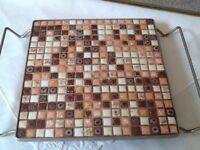 MCM  Hot Plate Tile Trivet 12x12 Earthtones Kitchen